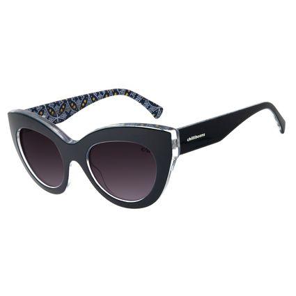Óculos De Sol Feminino Chilli Beans Gatinho Azul Escuro  OC.CL.2803-0590