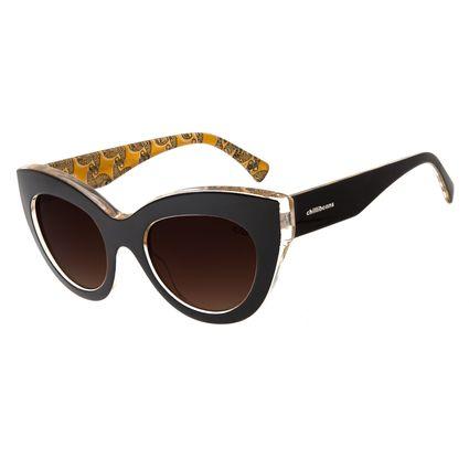 Óculos De Sol Feminino Chilli Beans Gatinho Marrom Escuro OC.CL.2803-0247