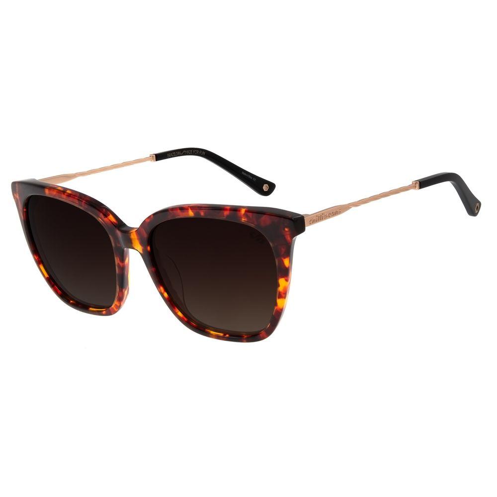 Óculos De Sol Feminino Chilli Beans Quadrado Tartaruga  OC.CL.2817-5706