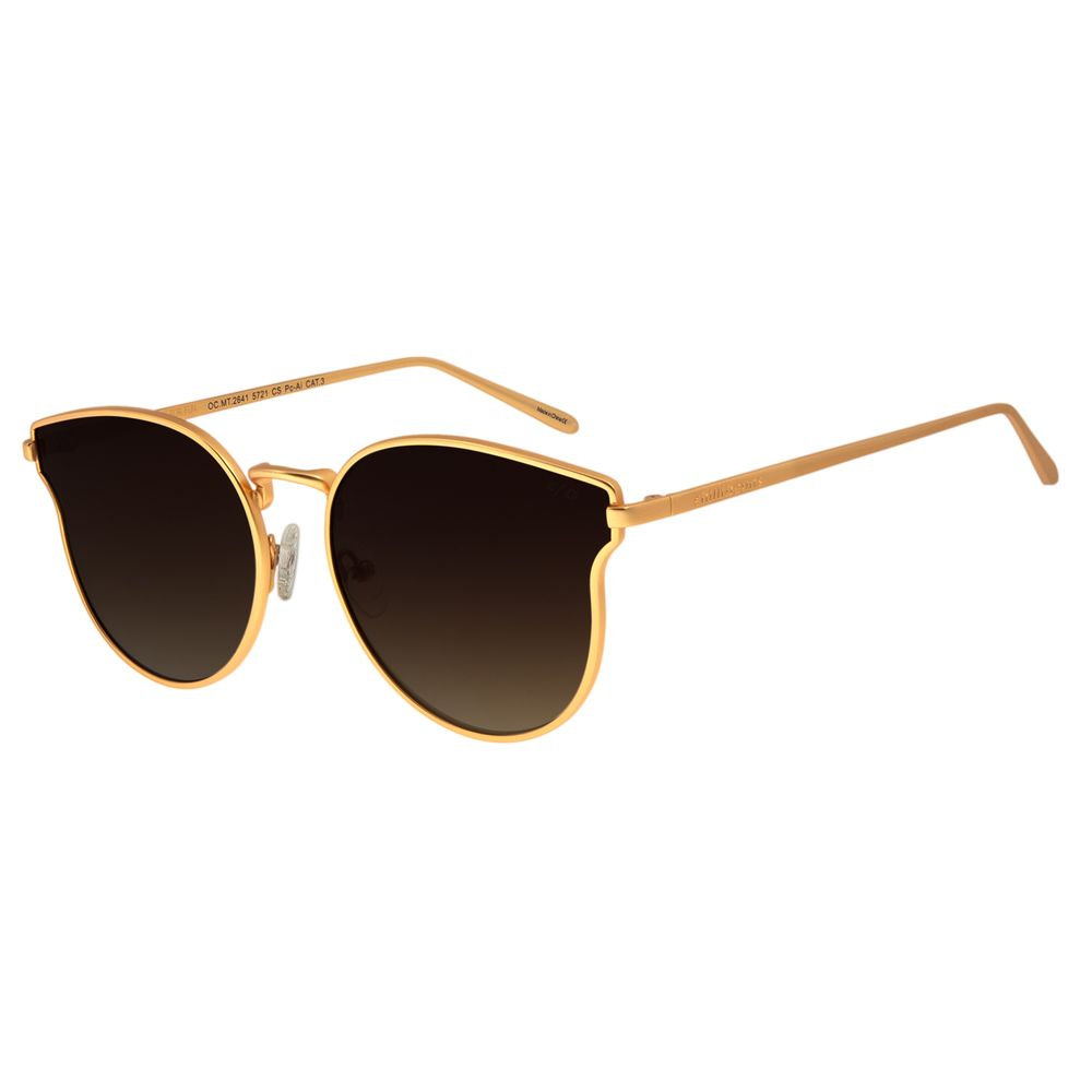 Óculos De Sol Feminino Chilli Beans Redondo Dourado OC.MT.2641-5721