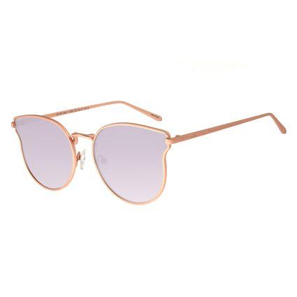 Óculos De Sol Feminino Chilli Beans Redondo Rosê OC.MT.2641-5795