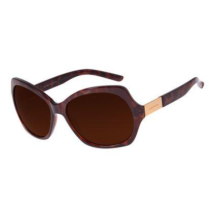 Óculos de Sol Feminino Chilli Beans Quadrado Marrom OC.CL.2472-0202