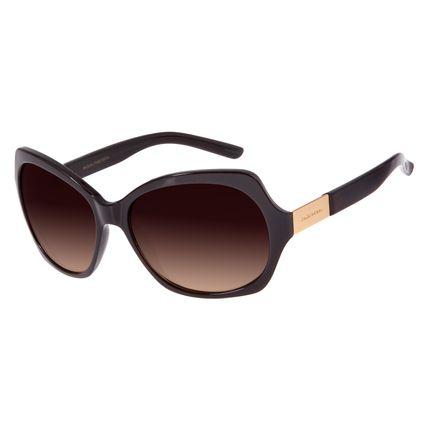 Óculos de Sol Feminino Chilli Beans Quadrado Marrom Escuro OC.CL.2472-5747