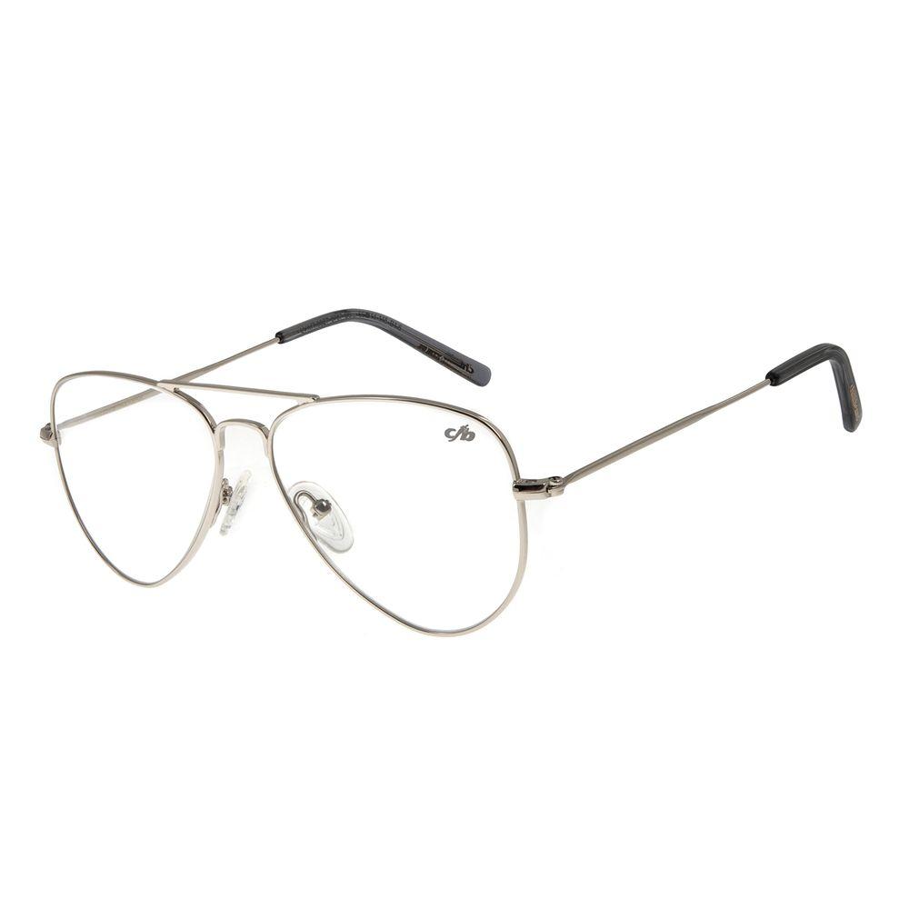 Armação Para Óculos De Grau Unissex Chilli Beans Prata LV.MT.0327-0707