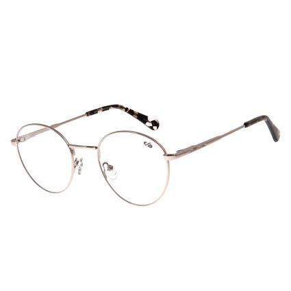 Armação Para Óculos De Grau Unissex Chilli Beans Metal Prata LV.MT.0328-0707