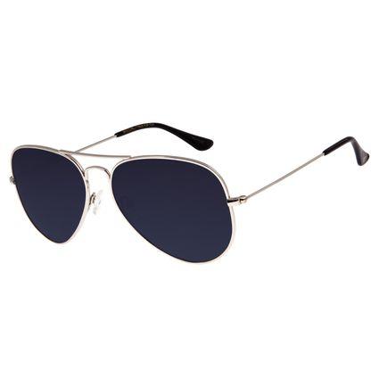Óculos De Sol Unissex Chilli Beans Aviador Prata OC.MT.2514-0007