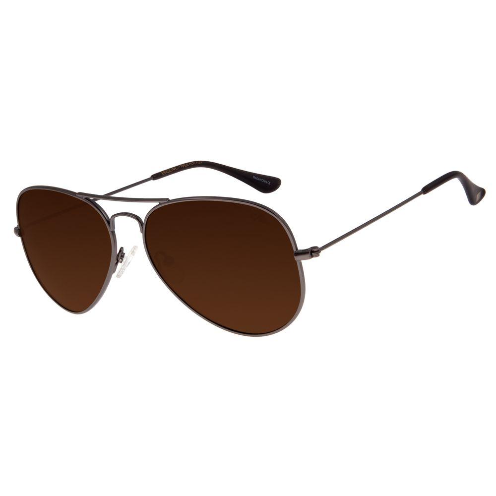 Óculos De Sol Unissex Chilli Beans Aviador Ônix OC.MT.2514-0222