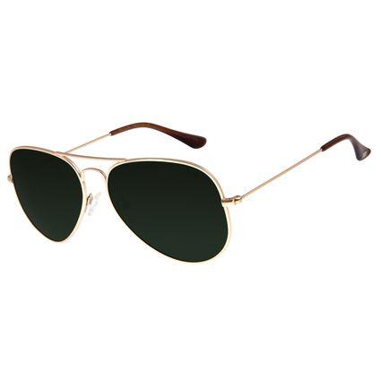 Óculos De Sol Unissex Chilli Beans Aviador Verde  OC.MT.2514-1521