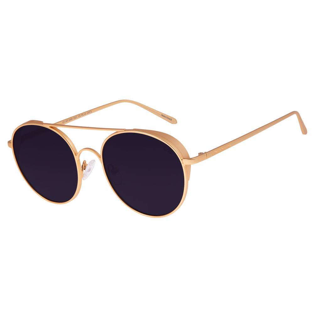 Óculos De Sol Unissex Chilli Beans Redondo Dourado OC.MT.2588-0521