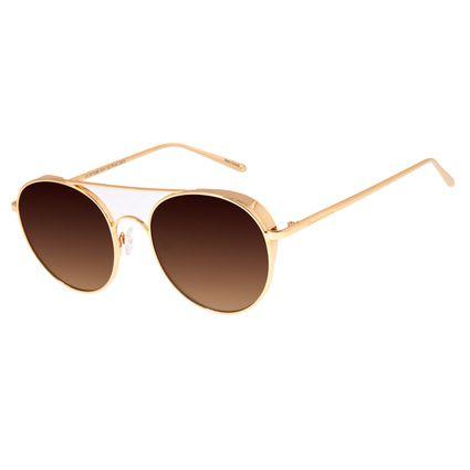 Óculos De Sol Unissex Chilli Beans Banhado A Ouro Marrom OC.MT.2588-5721