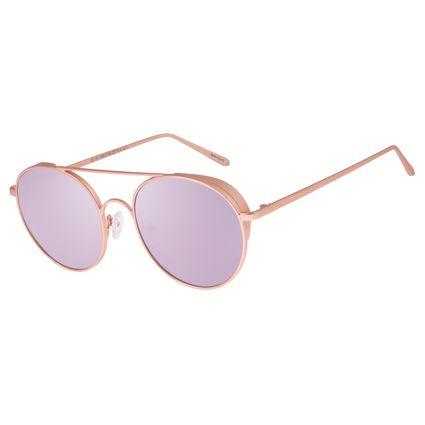 Óculos De Sol Unissex Chilli Beans Banhado A Ouro Rosê OC.MT.2588-5795