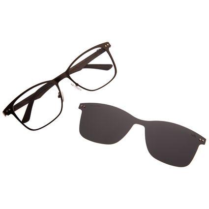 Armação Para Óculos De Grau Masculino Chilli Beans Multi Cinza Escuro LV.MU.0197-0128