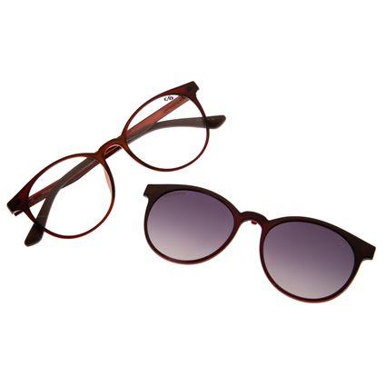Armação Para Óculos De Grau Feminino Chilli Beans Multi Vinho LV.MU.0214-2002
