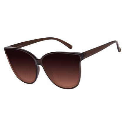 Óculos de Sol Feminino Chilli Beans Redondo Marrom OC.CL.2538-5702