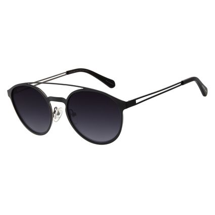 Óculos De Sol Unissex Chilli Beans Redondo Preto OC.MT.2680-0101