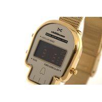 Relógio Digital Feminino Chilli Beans Caveira Dourado RE.MT.0961-2121.5