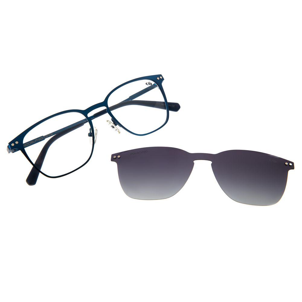 Armação Para Óculos De Grau Masculino Multi Quadrado Azul LV.MU.0211-2008