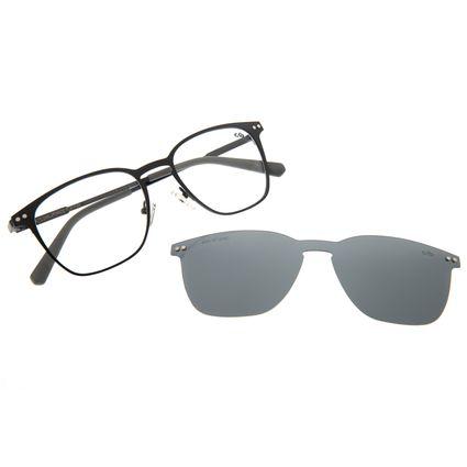 Armação Para Óculos De Grau Masculino Multi Quadrado Preto LV.MU.0211-0101