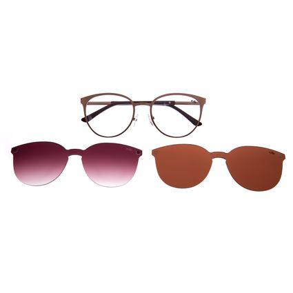 Armação Para Óculos De Grau Feminino Multi Em Dobro Cobre LV.MU.0271-3939
