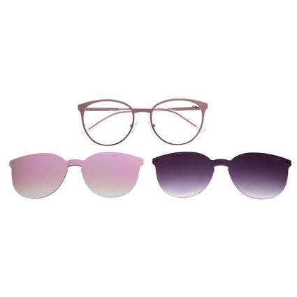 Armação Para Óculos De Grau Feminino Multi Em Dobro Rosê  LV.MU.0271-9595
