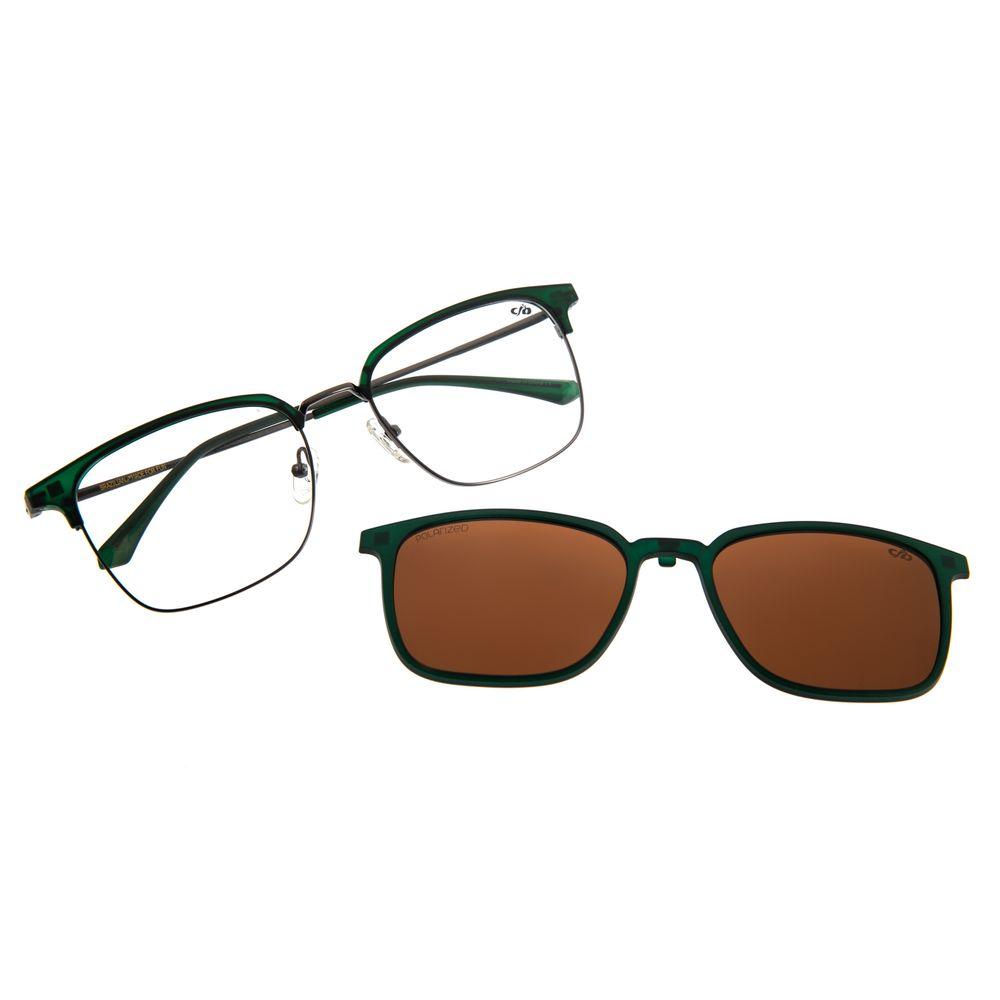 Armação Para Óculos De Grau Masculino Multi Verde Escuro LV.MU.0287-0226