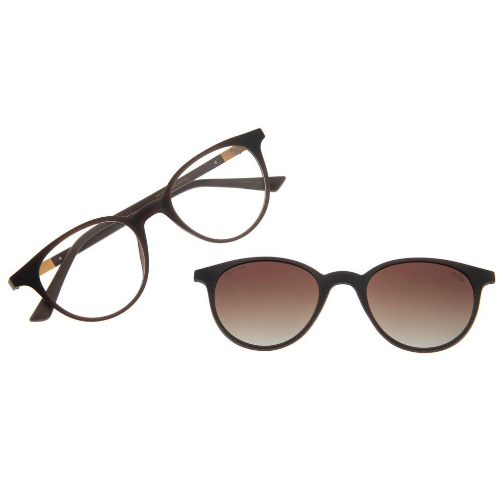 Armação Para Óculos De Grau Feminino Multi Marrom LV.MU.0190-2002