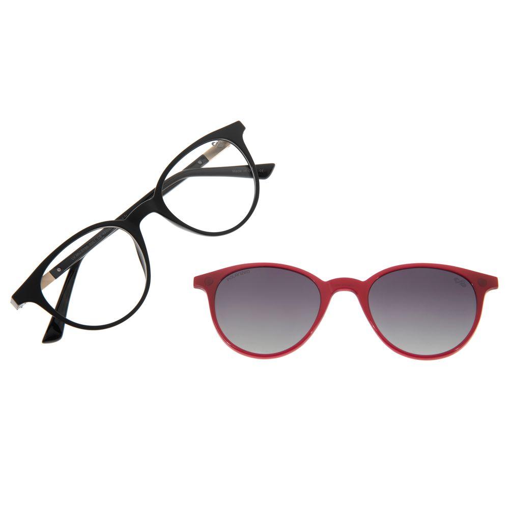 Armação Para Óculos De Grau Feminino Multi Preto LV.MU.0190-2001