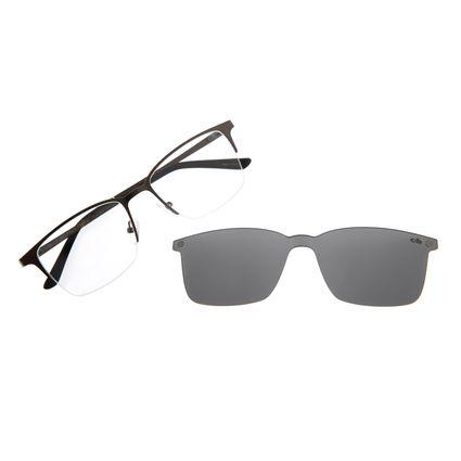 Armação Para Óculos De Grau Masculino Multi Grafite LV.MU.0291-0124