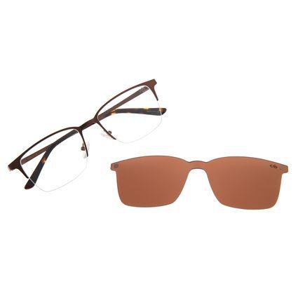 Armação Para Óculos De Grau Masculino Multi Marrom LV.MU.0291-0202