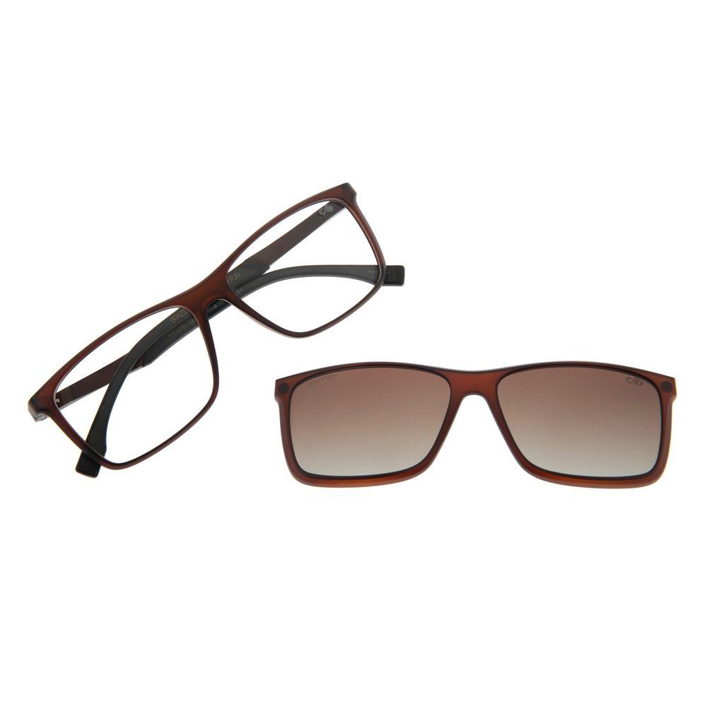 Armação Para Óculos De Grau Masculino Multi Marrom LV.MU.0293-2002