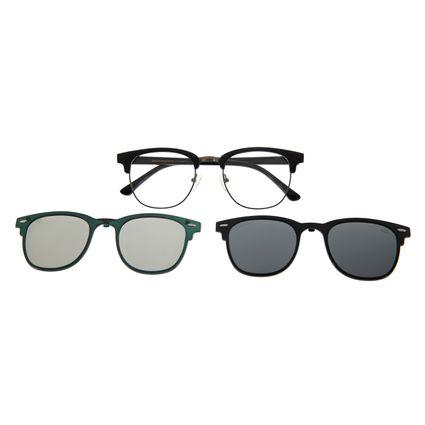 Armação Para Óculos De Grau Unissex Multi 3D Preto LV.MU.0295-0101