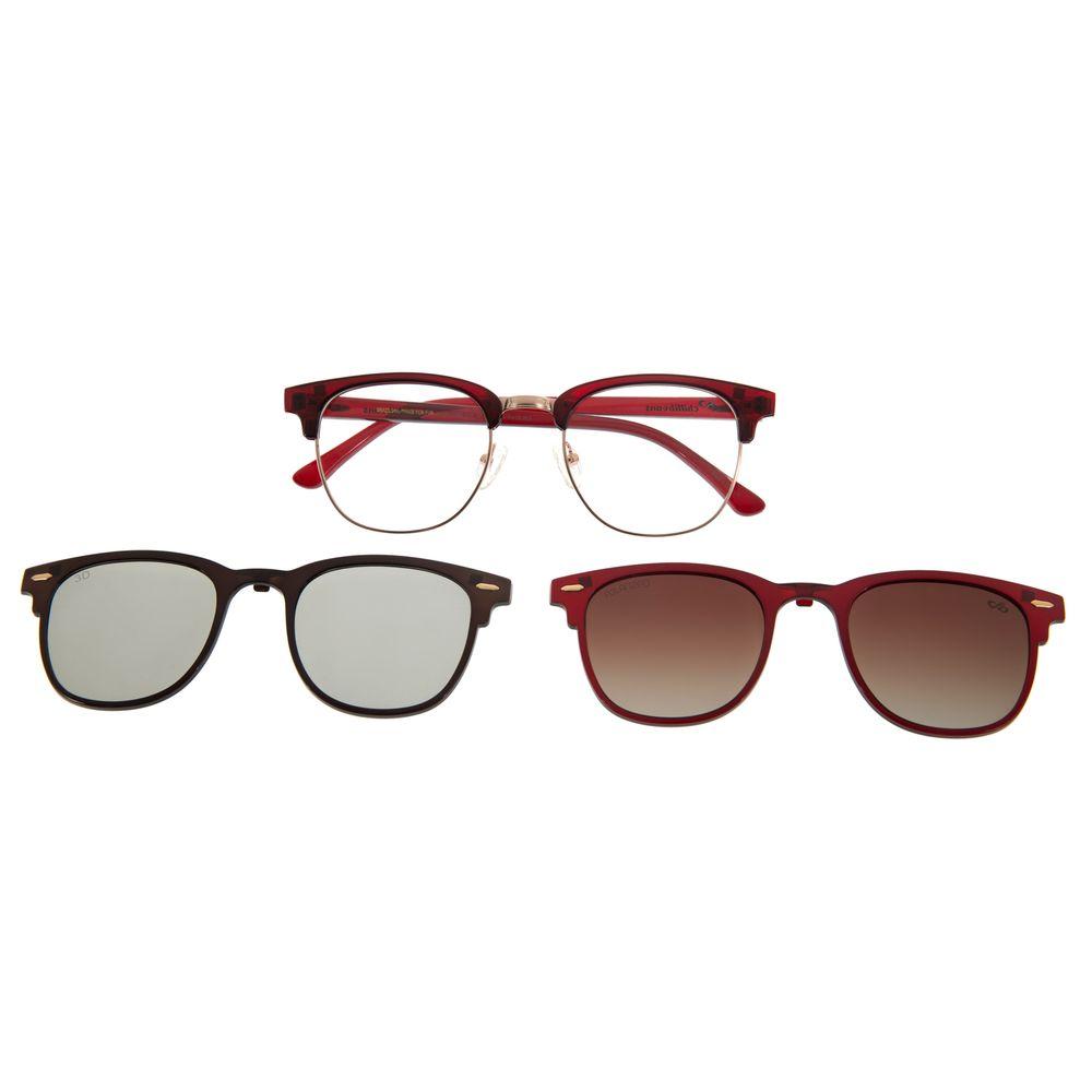 Armação Para Óculos De Grau Unissex Multi 3D Vinho LV.MU.0295-1717