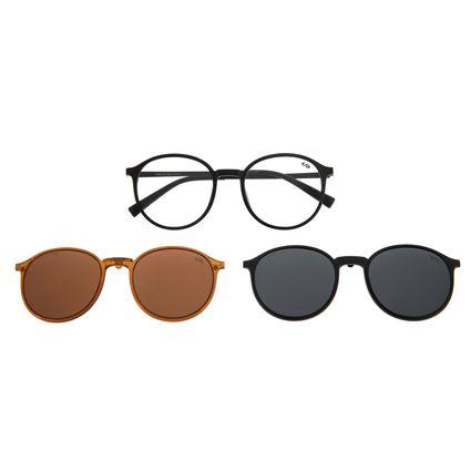 Armação Para Óculos De Grau Masculino Multi Preto LV.MU.0294-0101