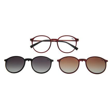 Armação Para Óculos De Grau Masculino Multi Vinho LV.MU.0294-1717