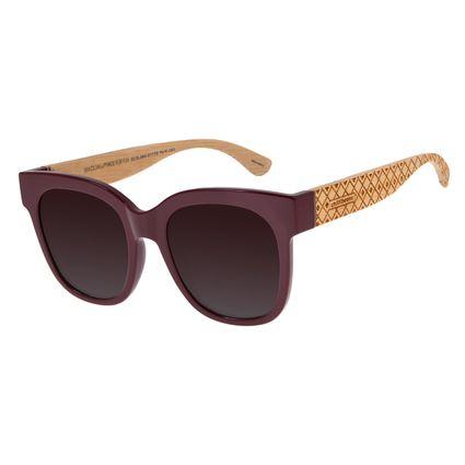 Óculos De Sol Feminino Chilli Beans Quadrado Vinho  OC.CL.2804-5717