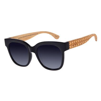 Óculos De Sol Feminino Chilli Beans Quadrado Preto OC.CL.2804-0501