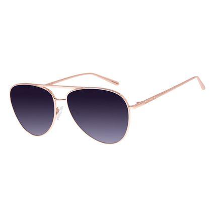 Óculos De Sol Feminino Chilli Beans Aviador Rosê OC.MT.2683-2095