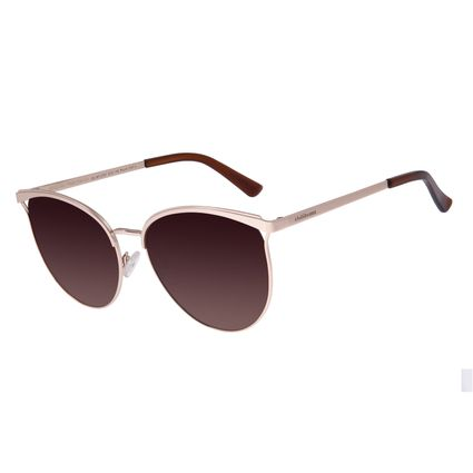 Óculos De Sol Feminino Chilli Beans Redondo Degradê Marrom OC.MT.2707-5721