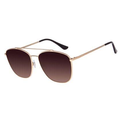 Óculos De Sol Feminino Chilli Beans Executivo Dourado OC.MT.2741-5721