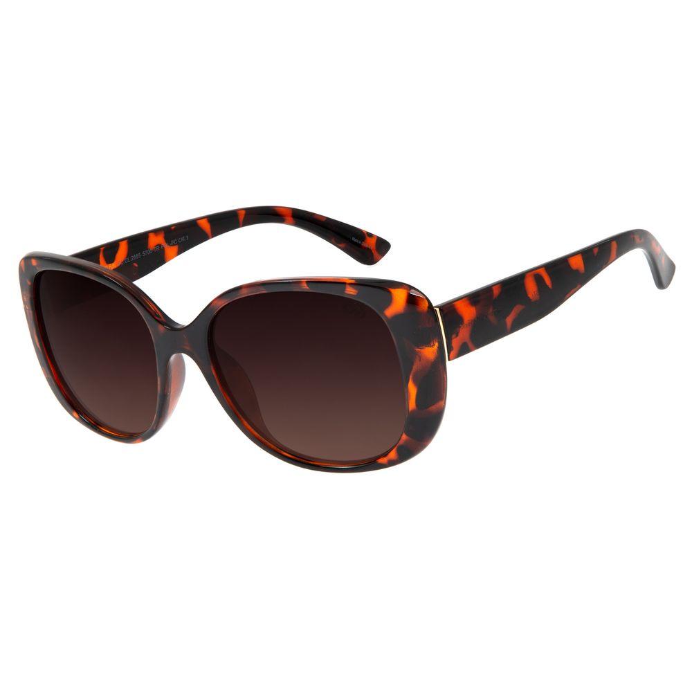 Óculos de Sol Feminino Chilli Beans Quadrado Tartaruga OC.CL.2855-5706