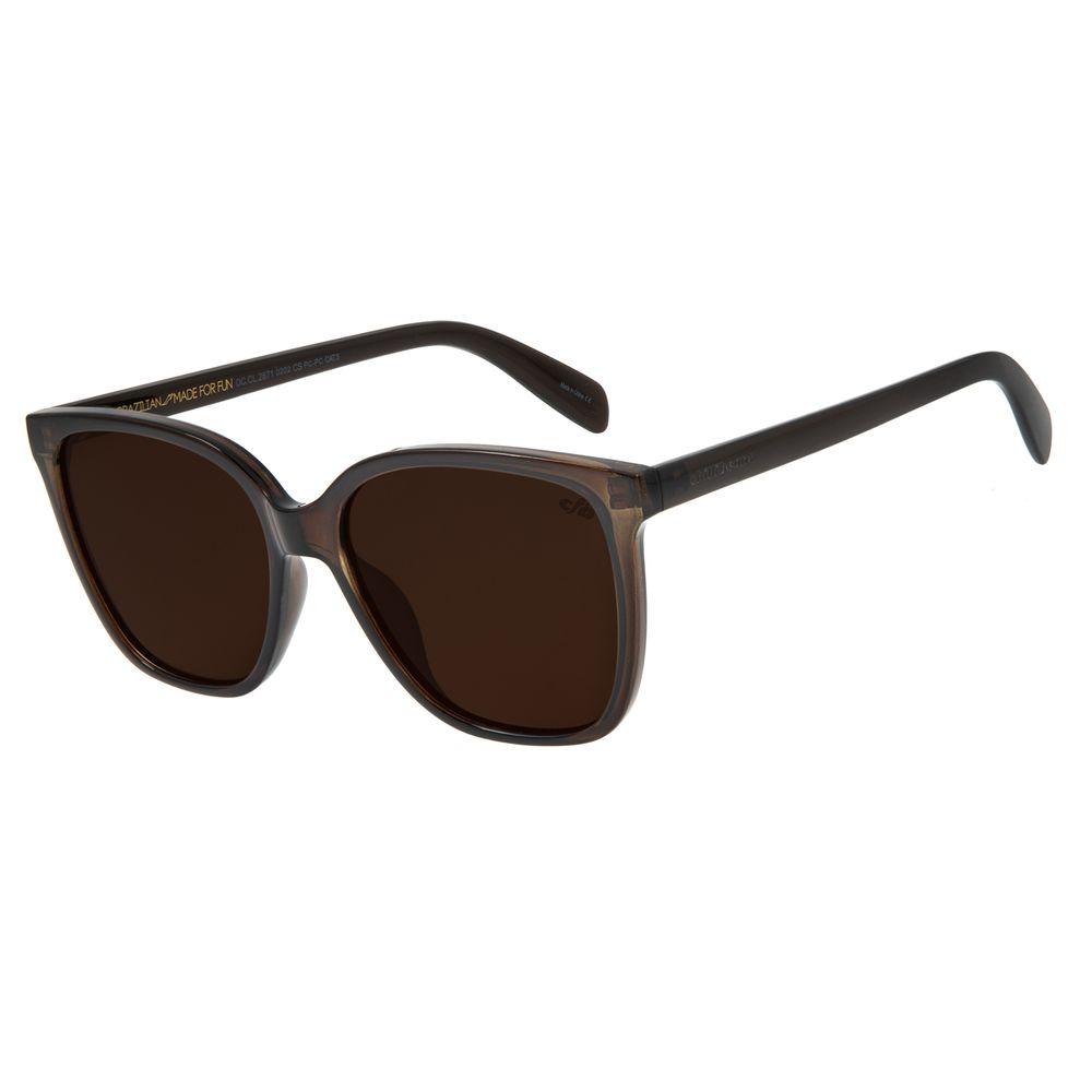 Óculos de Sol Feminino Chilli Beans Quadrado Marrom OC.CL.2871-0202