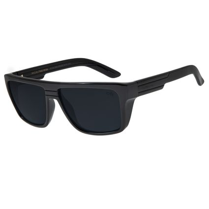 Óculos de Sol Masculino Chilli Beans Esportivo Preto Brilho OC.ES.1200-0130