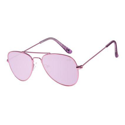 Óculos De Sol Infantil Chilli Beans Aviador Rosa OC.KD.0586-1313