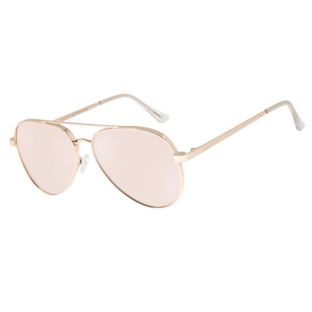 Óculos de Sol Unissex Chilli Beans Aviador Rose  OC.MT.2678-0295