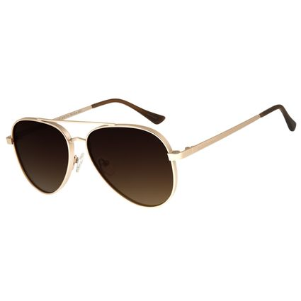 Óculos de Sol Unissex Chilli Beans Aviador Dourado OC.MT.2678-5721