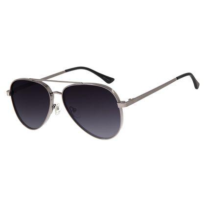 Óculos de Sol Unissex Chilli Beans Aviador Ônix OC.MT.2678-2022