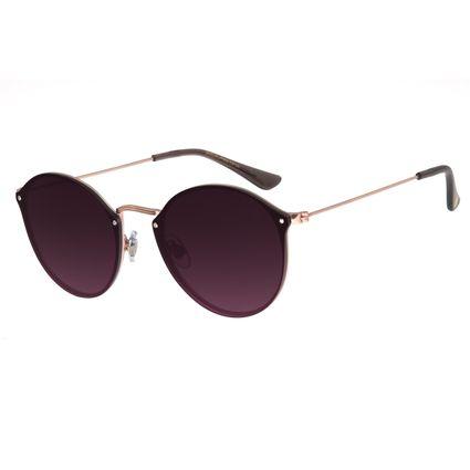 Óculos De Sol Feminino Chilli Beans Redondo Rosê Fine Lines OC.MT.2740-2095