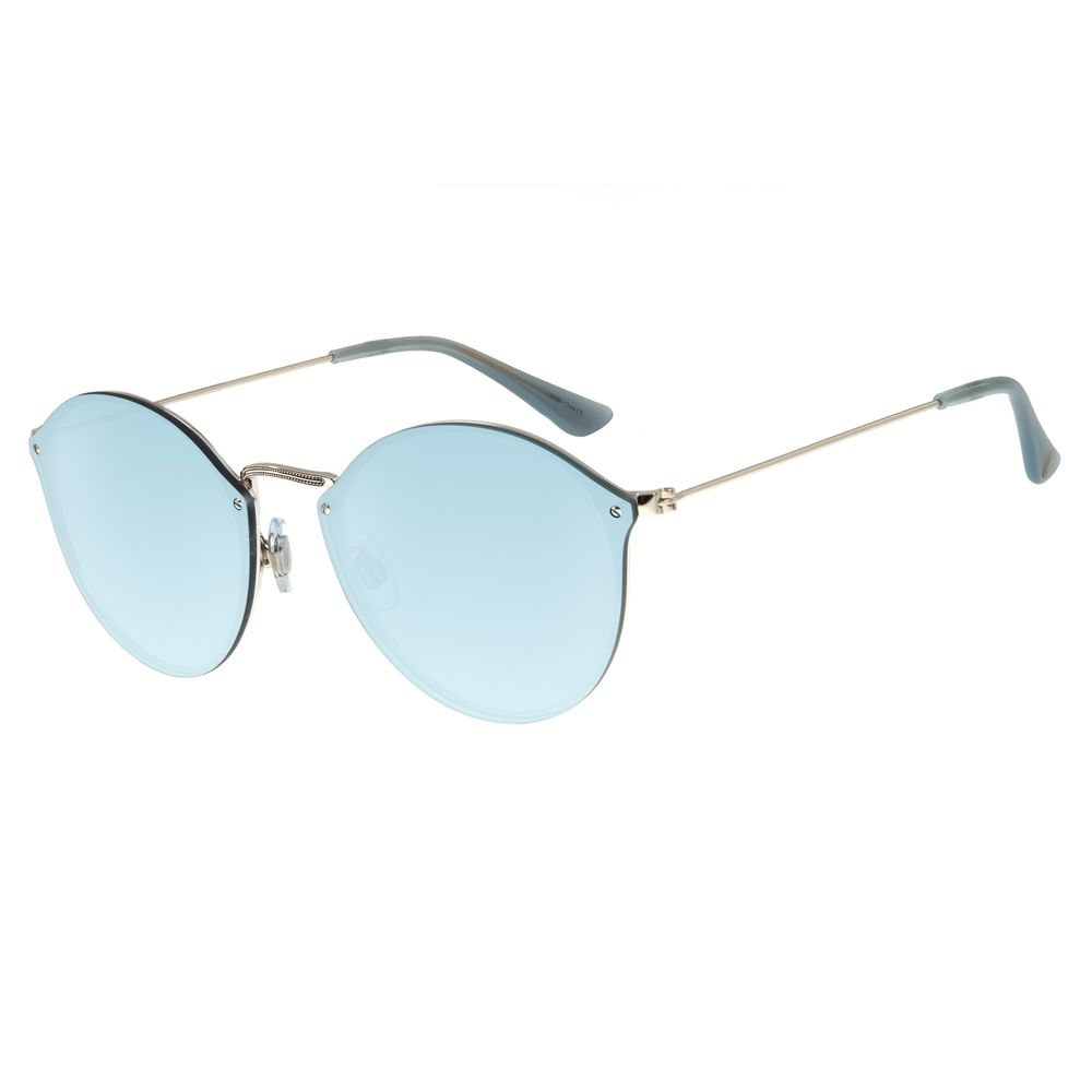 Óculos De Sol Feminino Chilli Beans Redondo Prata Fine Lines OC.MT.2740-0007