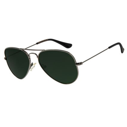 Óculos De Sol Unissex Chilli Beans Aviador Ônix  OC.MT.2511-0022