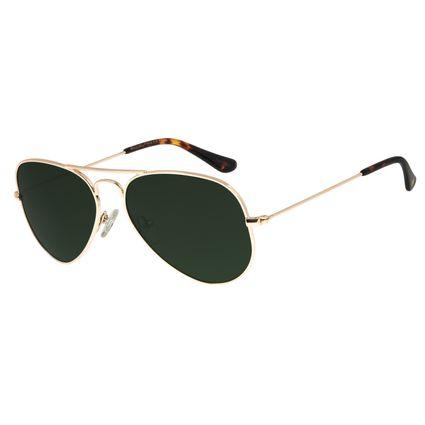 Óculos De Sol Unissex Chilli Beans Aviador Verde OC.MT.2511-1521